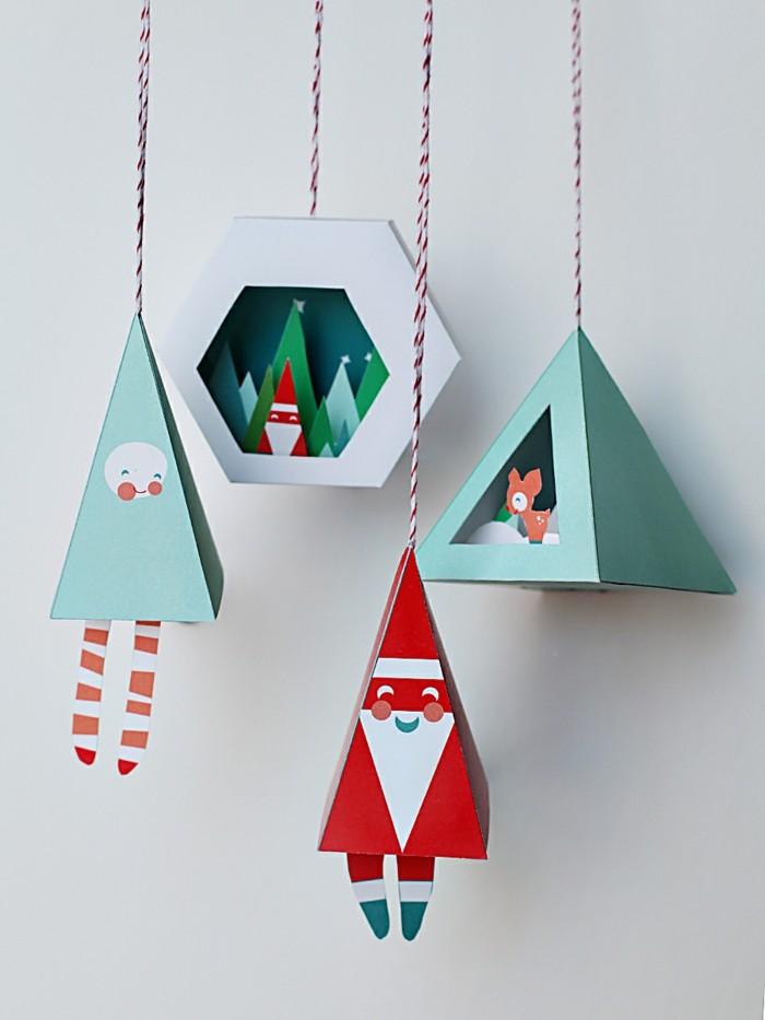 basteln mit papier ausgefallene weihnachtliche deko aus papier