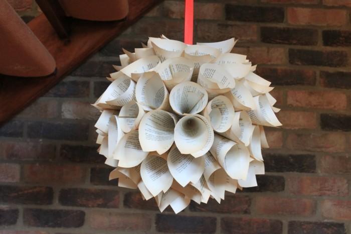 basteln mit papier deko für weihnachten basteln