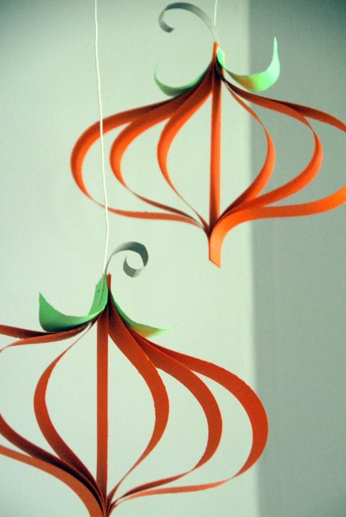basteln mit papier dekoideen für halloween