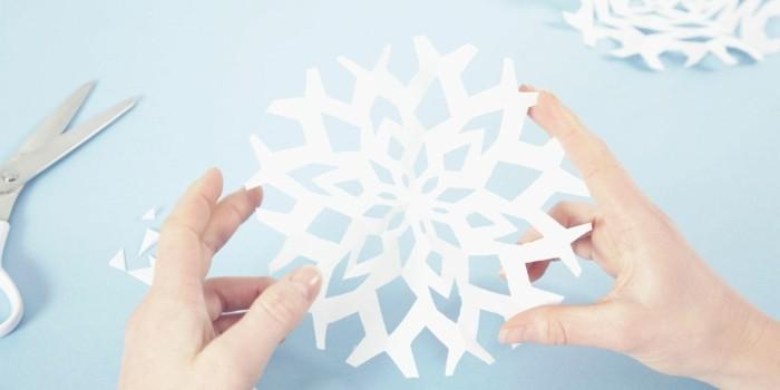 basteln mit papier dekoideen für weihnachten schneeflöckchen