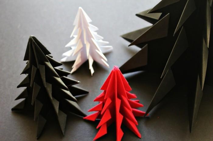 basteln mit papier origami für weihnachten basteln