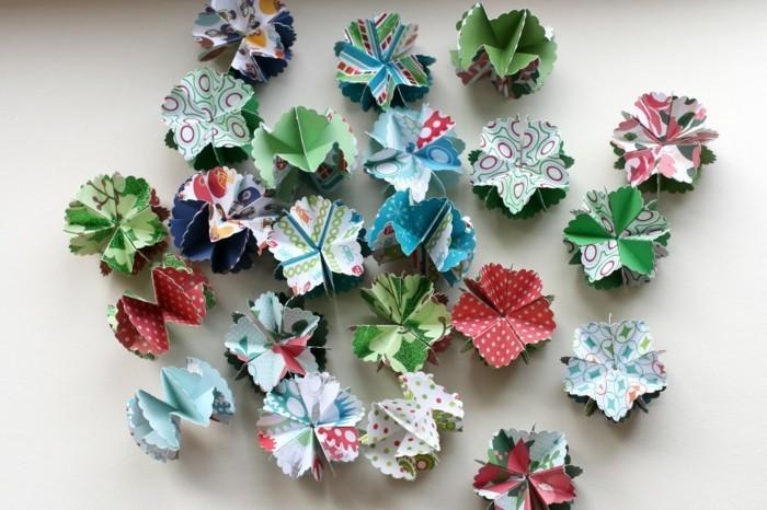 basteln mit papier weihnachtliche dekoration selber machen