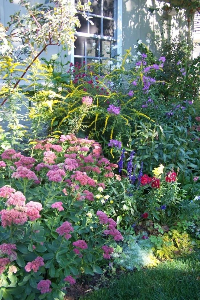 bauerngarten schöne ideen mit farbigen blüten