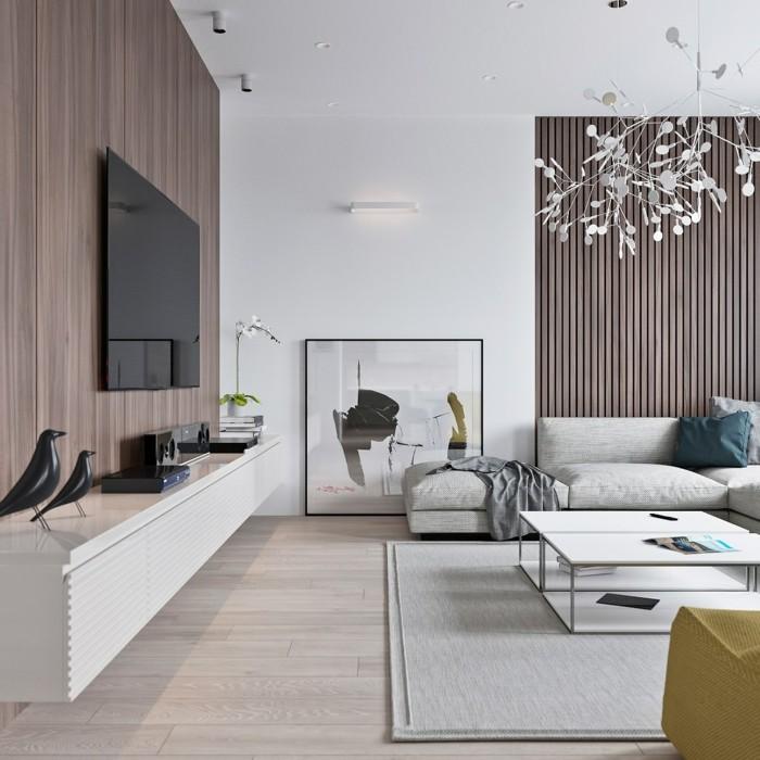 beleuchtung wohnzimmer ausgefallener leuchter und schöne accessoires