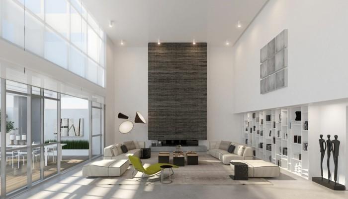 beleuchtung wohnzimmer moderne lampen und helles innendesign