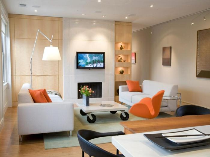 wohnideen wohnzimmer kleinen raum passend beleuchten