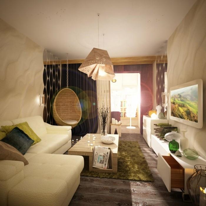 beleuchtung wohnzimmer viel natürliches licht und cooler lechter