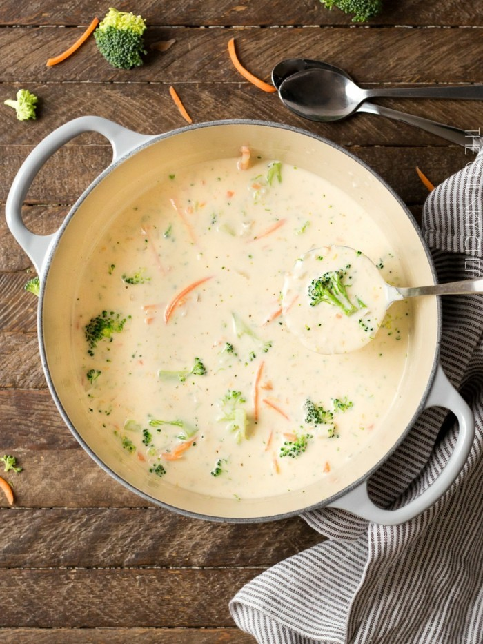 brokkoli käse suppe zubereiten