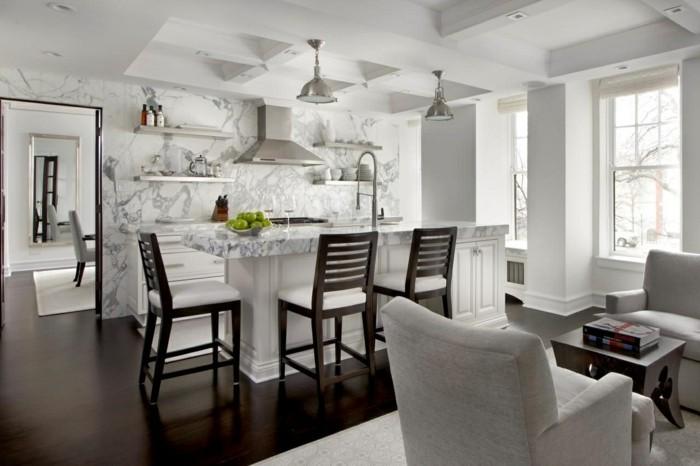 deckengestaltung in der Küche mit offener wohnplan