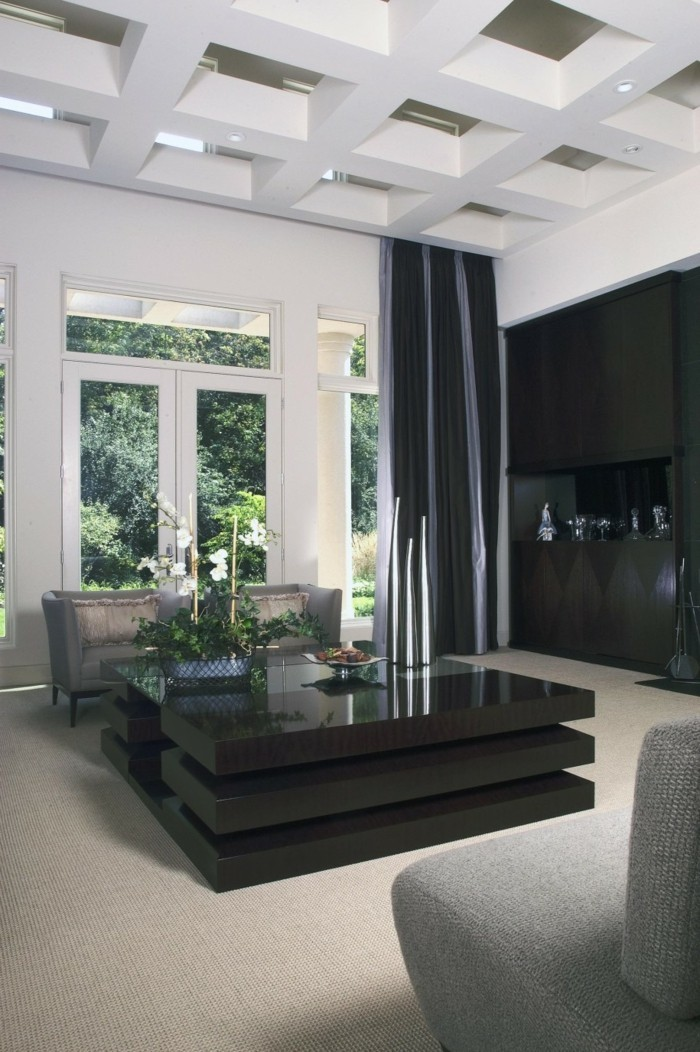 kassettendecke was ist das und wie schreibt sie sich in der modernen wohnung ein. Black Bedroom Furniture Sets. Home Design Ideas