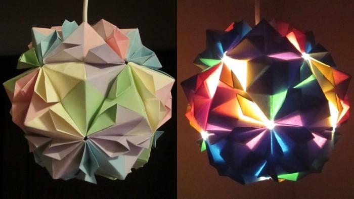diy lampenschirm punkten origami