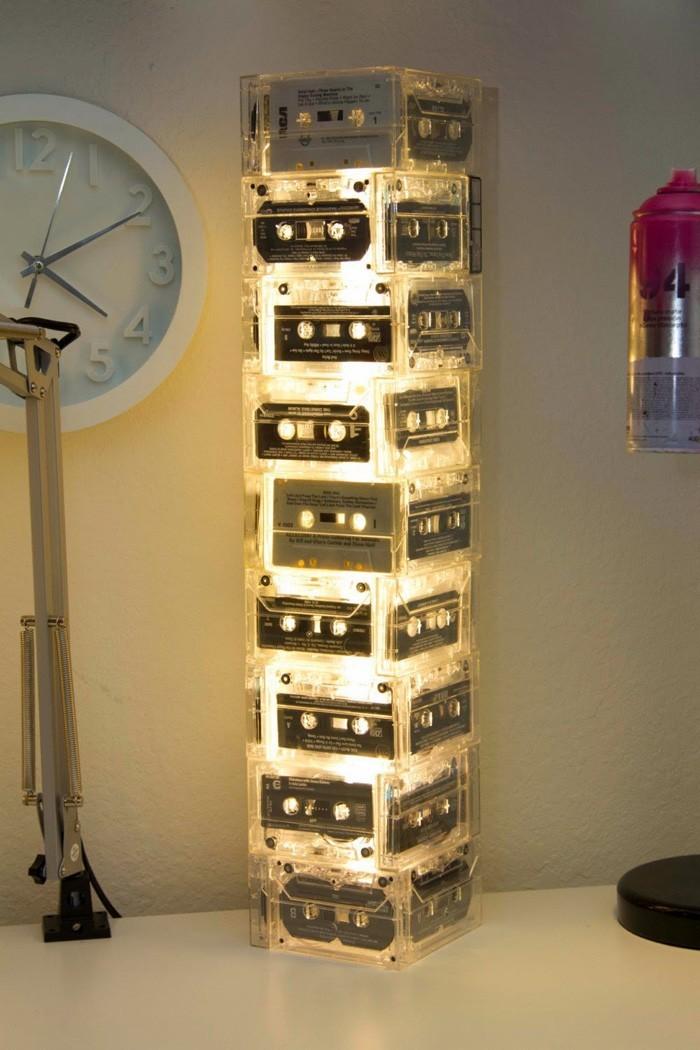 diy lampenschirm upcycling ideen kreativ gestalten tapes