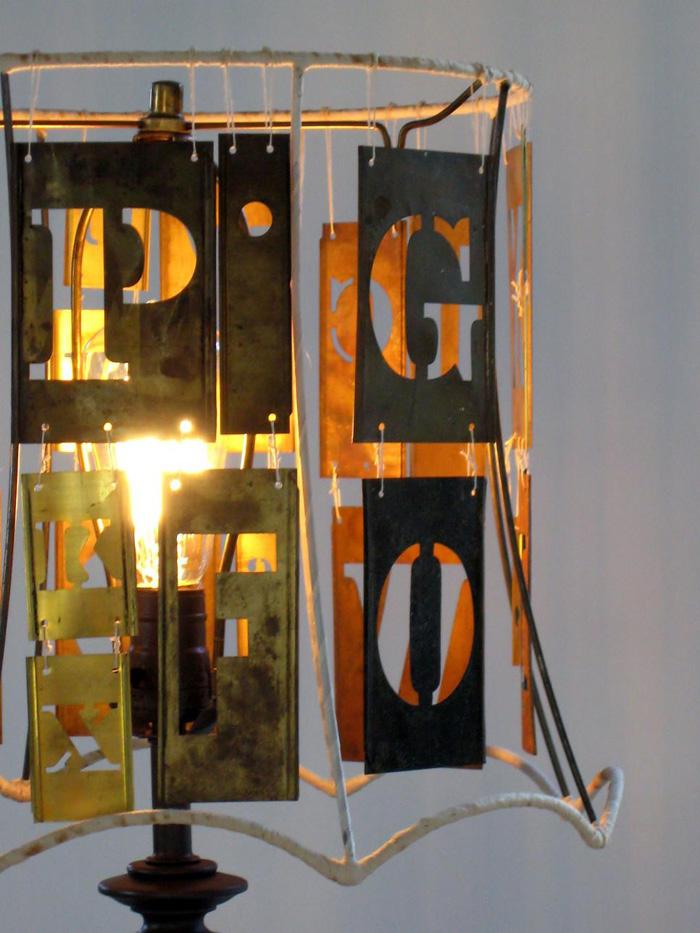 diy lampenschirm upcycling ideen typographie