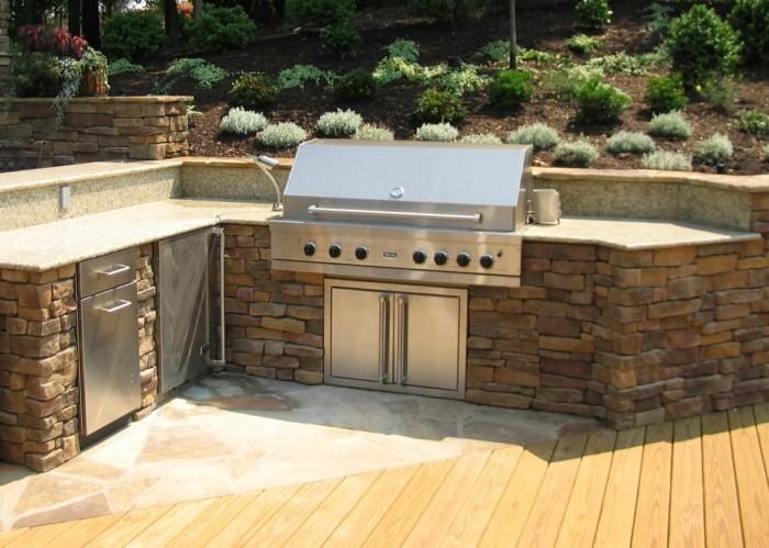 Outdoor Küche Rustikal : Outdoor küche und gartenküche varianten materialien und anbieter