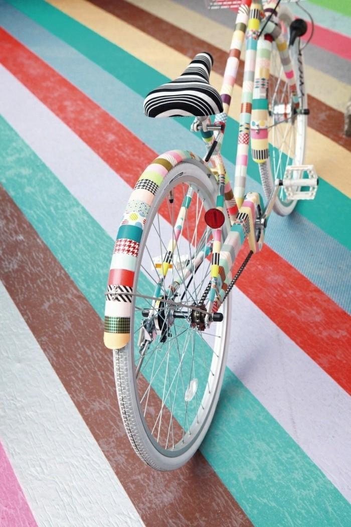 fahrrad mit washi tape selber dekorieren