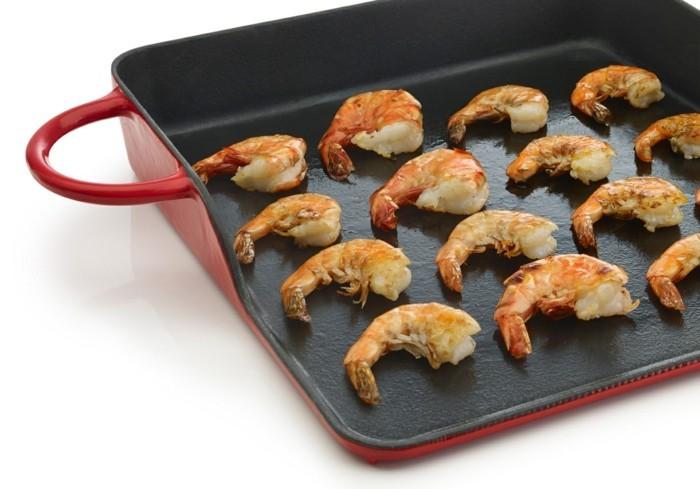 garnelen grillen meeresfrüchte plancha grill gesund grillen