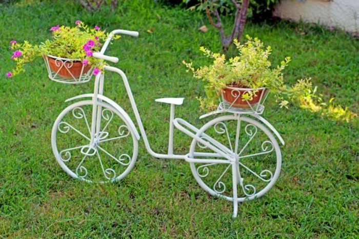 gartengestaltung ideen vintage gartenideen mit fahrrädern