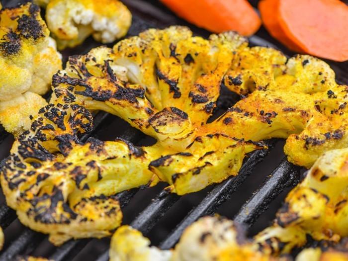 gemüse grillen paprika blumenkohl