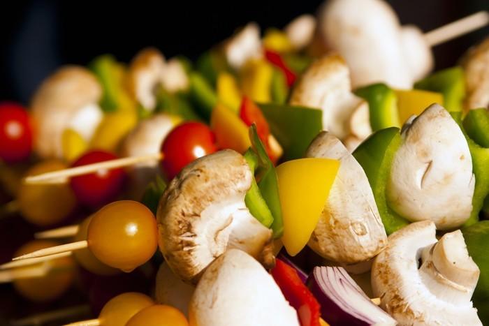 gemüse grillen paprika zucchini grillteller