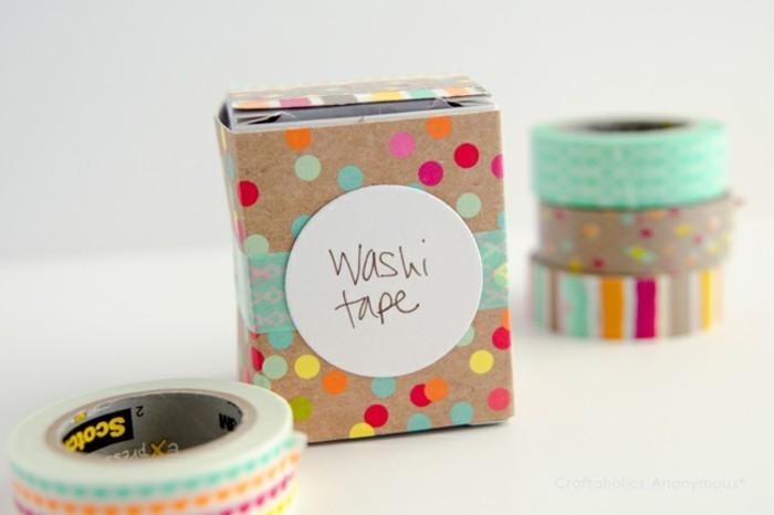 geschenkbox kartonkansten aufbewahrungsboxen dekorieren washi tape