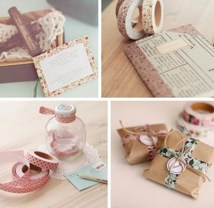 geschenkideen geschenkverpackungen selber basteln mit washi tape