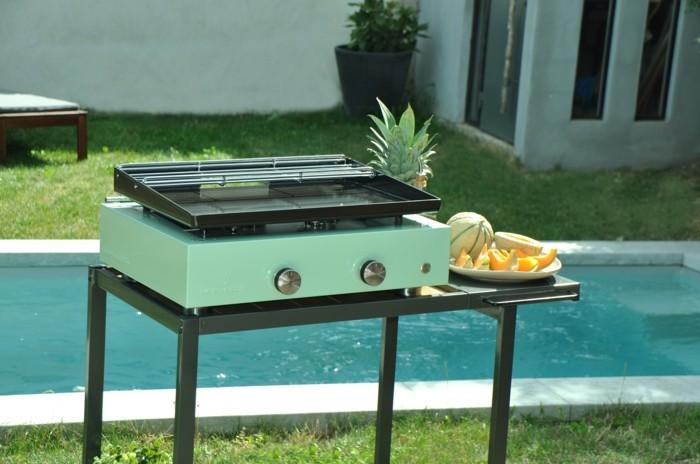 gesund grillen plancha grill obst melone ananas