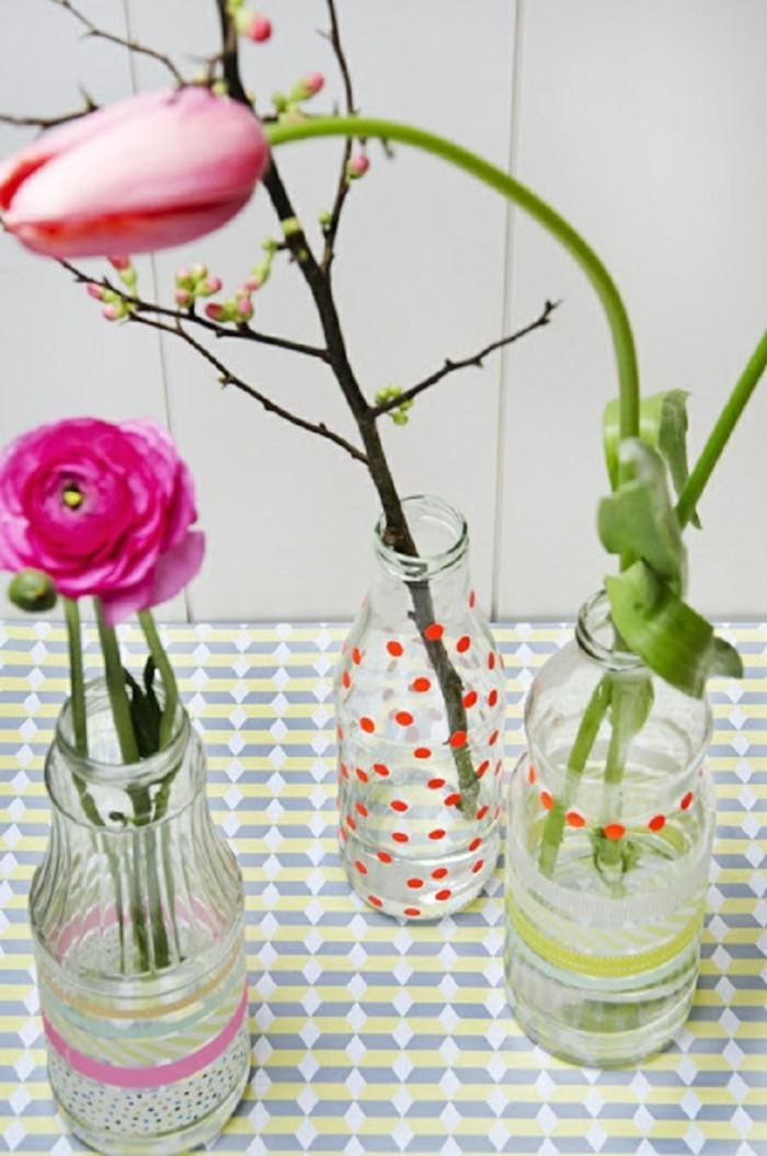gläser vasen washi tape dekoideen