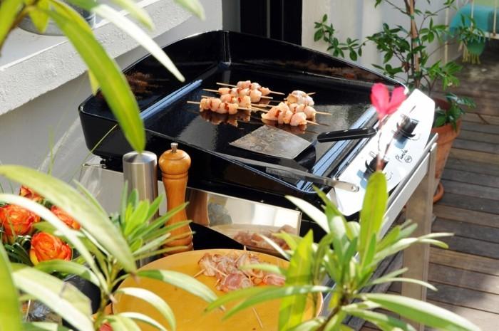 hähnchen grillen gesund plancha grill sommer gartenparty