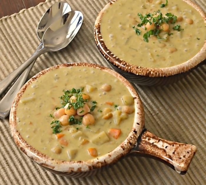 kichererbsen curry suppe partyrezept