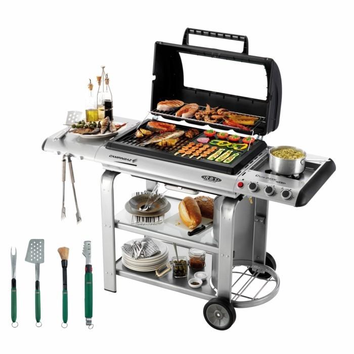 kompaktes plancha grill inox outdoor küche