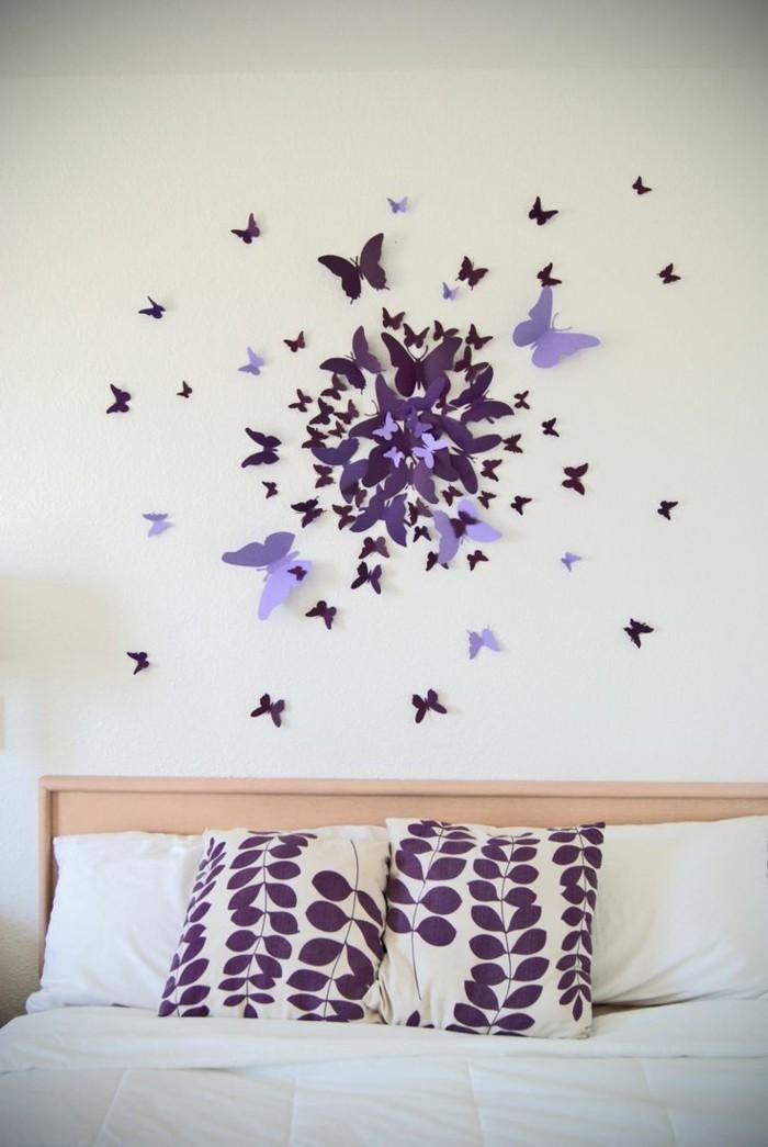 kreativ basteln hervorragende idee für die wanddeko im schlafzimmer