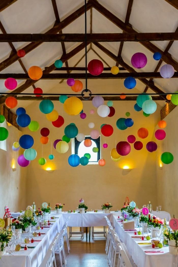 kreativ basteln mit papier schöne laternen für die party basteln
