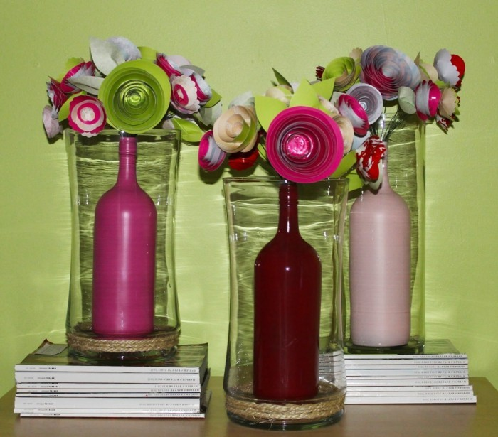 kreativ basteln wunderliche dekoideen mit papierblumen