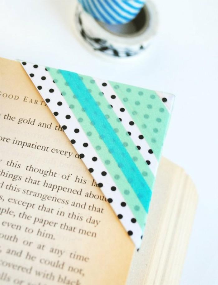 lesezeichen selber basteln mit washi tape
