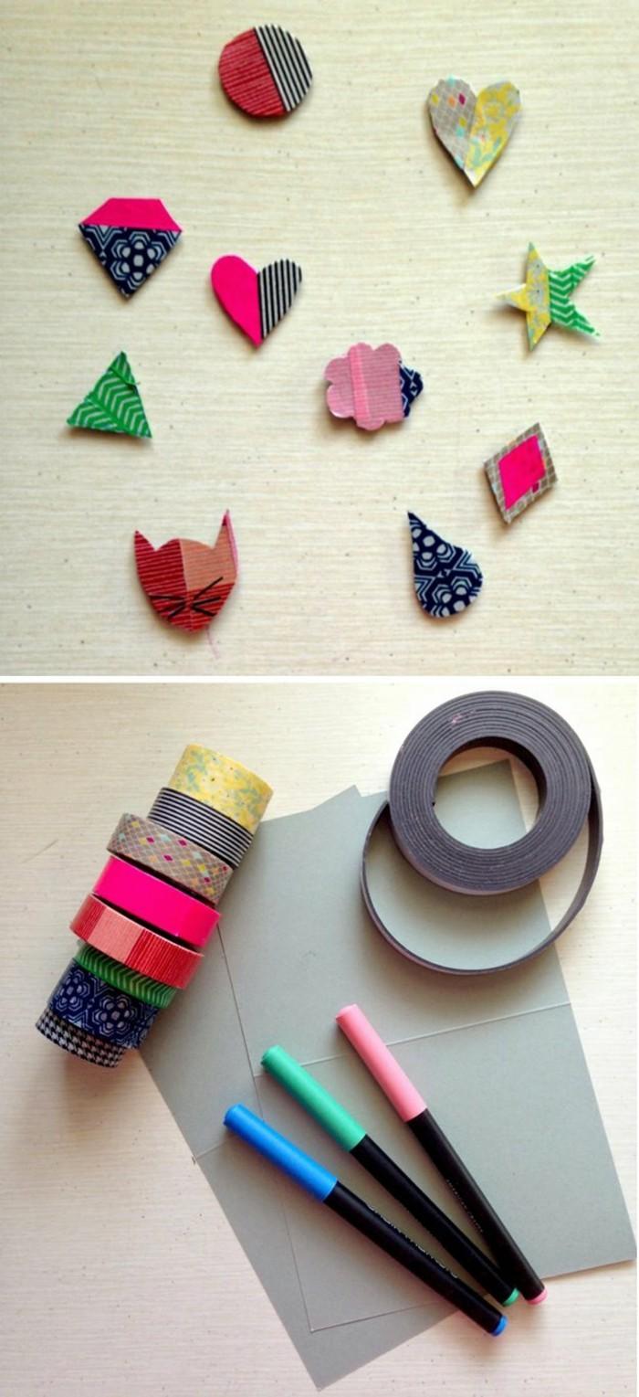magneten basteln aus washi tape