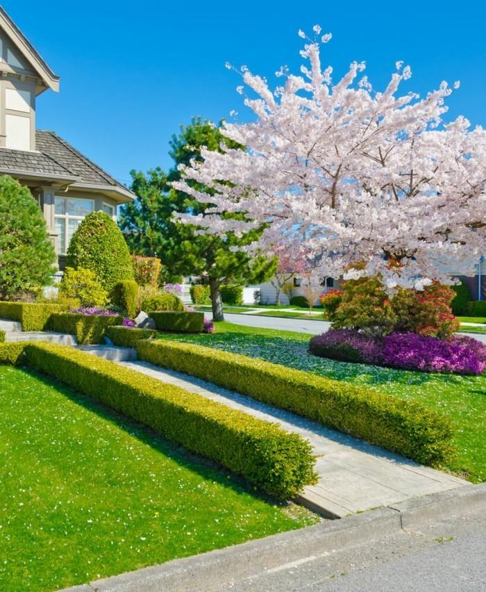 Moderne Gartengestaltung Den Vorgarten Stilvoll Dekorieren Gartengestaltung  Ideen U2013 111 Ausgefallene Gestaltungsideen Für Ihren Prachtvollen Garten ...