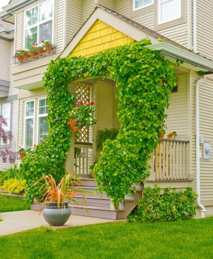 moderne gartengestaltung stilvoller und gemütlicher vorgarten