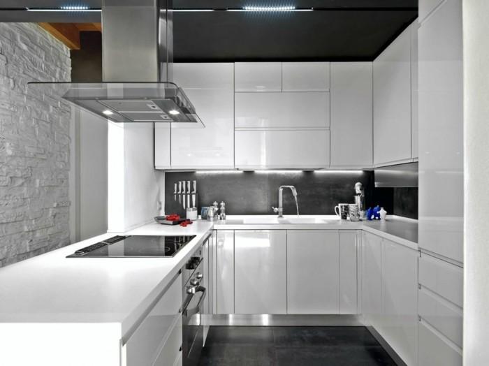 moderne küche kleine u förmige küche in weiß