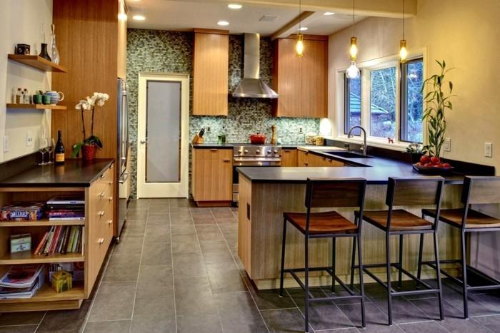 moderne küche schöne u förmige küche mit bodenfliesen