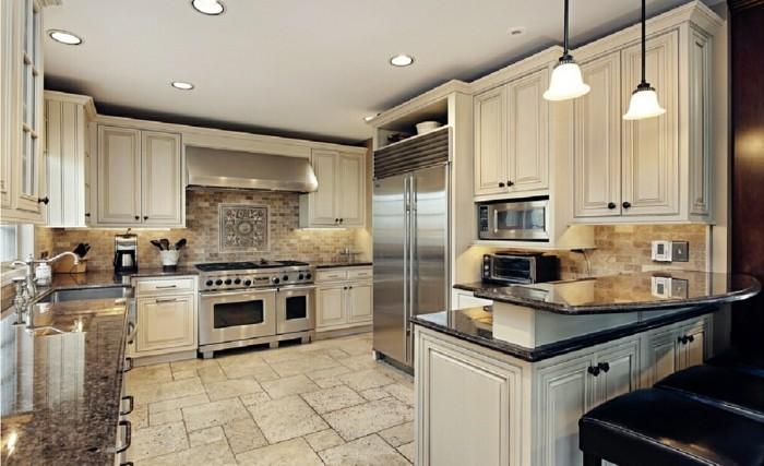 moderne küche stilvolle g förmige küche mit bodenfliesen