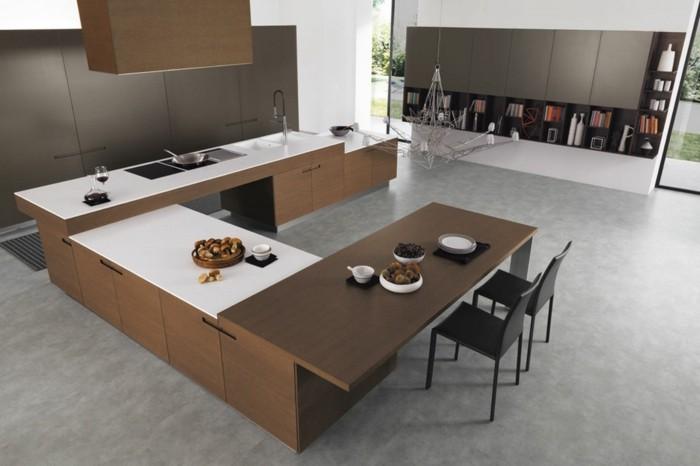 moderne küche u förmige küche in weiß und braun