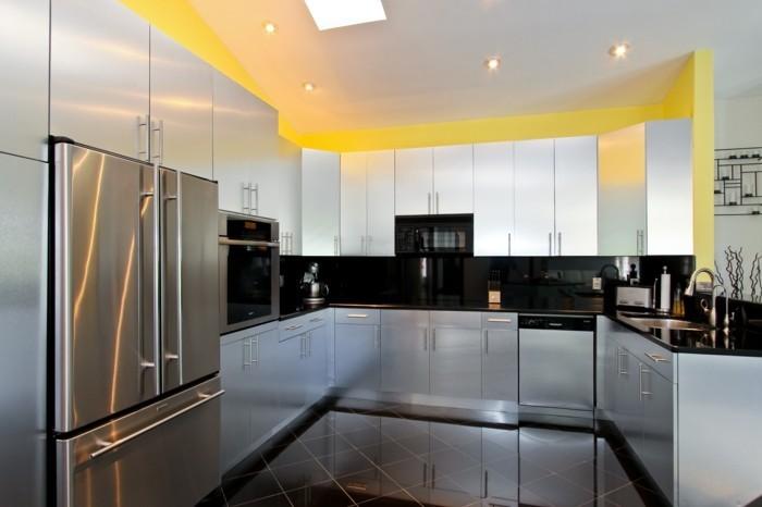 moderne küche u förmige küche mit weißen küchenschränken