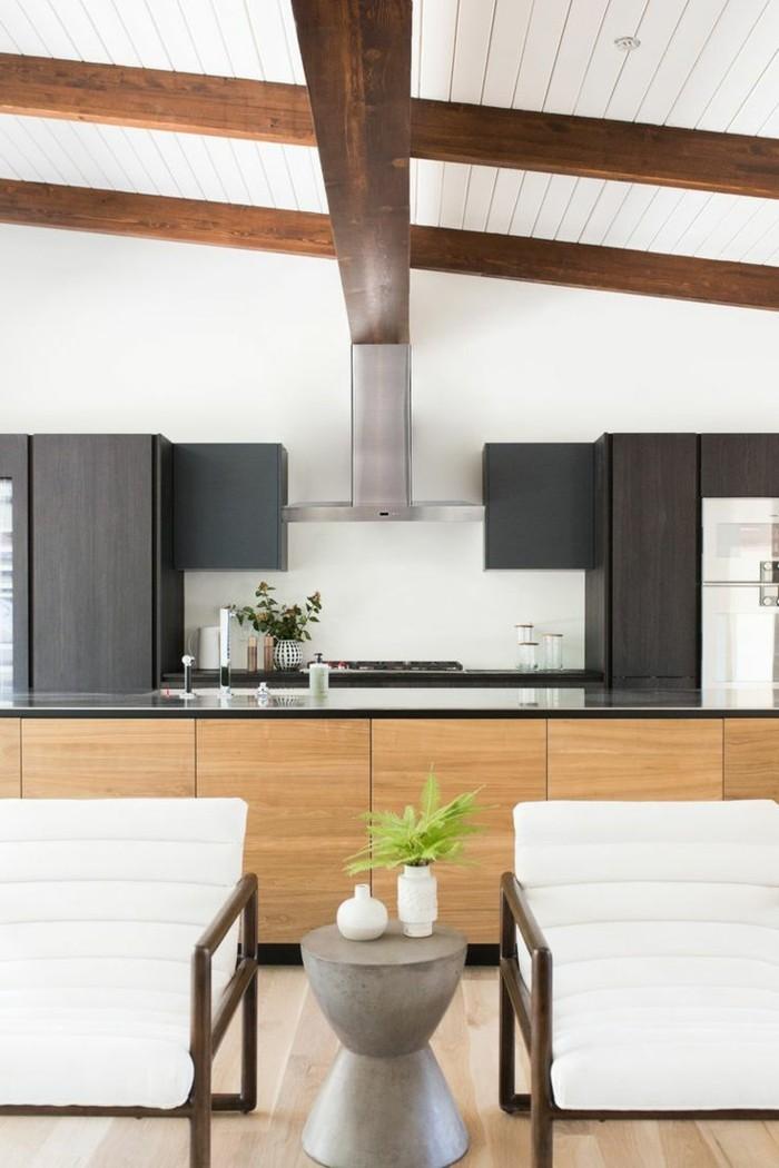 moderne küche wohnung mit offenem wohnplan