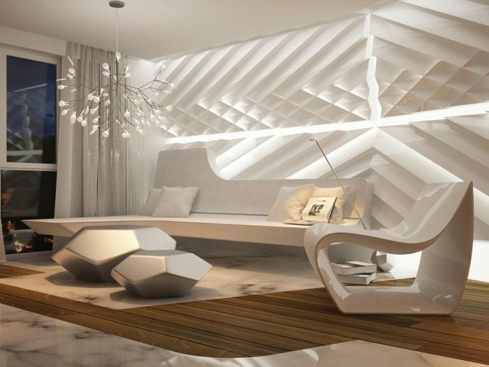 modernes wohnen ausgefallene beleuchtung und ausgelassener leuchter