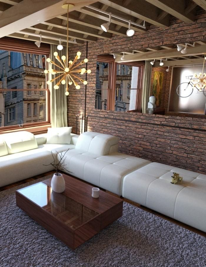 modernes wohnen ausgefallene wandgestaltung und coole beleuchtung