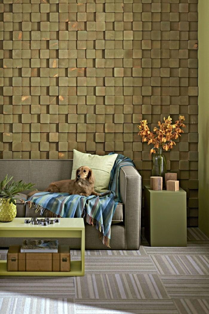 modernes wohnen ausgefallenes wanddesign und schöner teppichboden