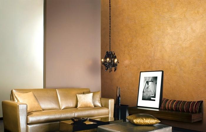modernes wohnen luxuriöses wohnzimmer mit schickem wohnzimmersofa und wunderschönen wänden
