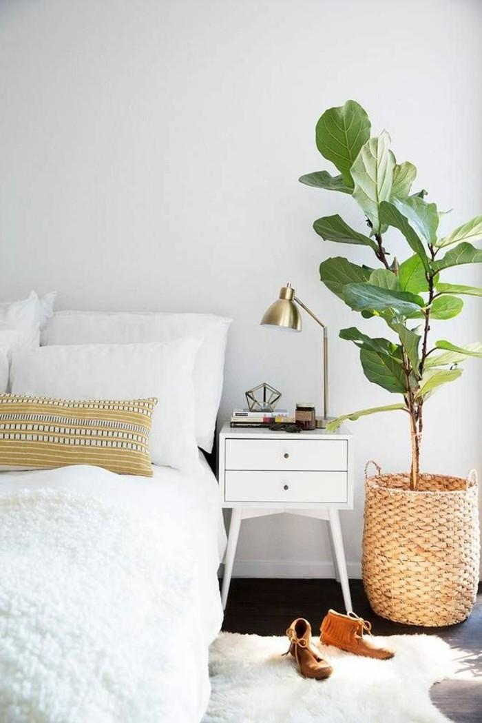 modernes wohnen minimalistisches schlafzimmer nit gemütlicher ausstrahlung