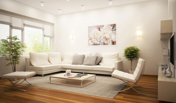 modernes wohnen natürlich wohnen pflanzen als deko im wohnzimmer
