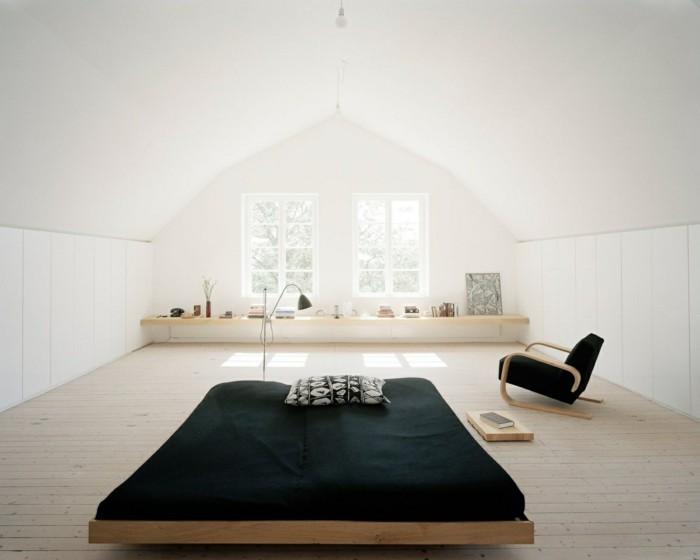 modernes wohnen schlafzimmer minimalistisch einrichten geräumig und stilvoll